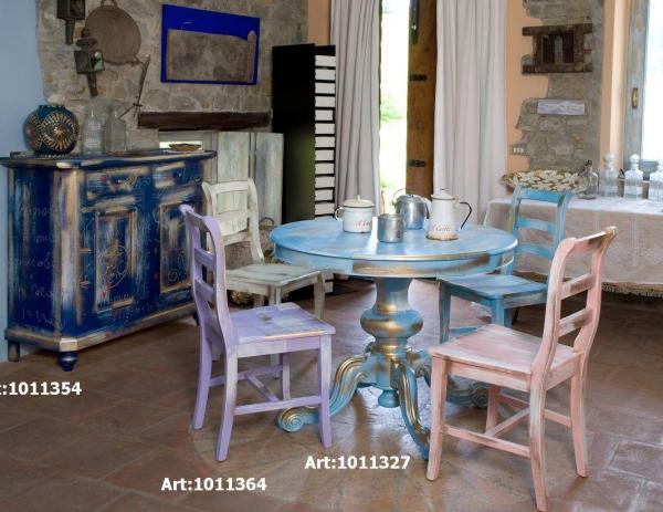 Mobili country castagnetti c mobili decorati - Mobili colorati design ...