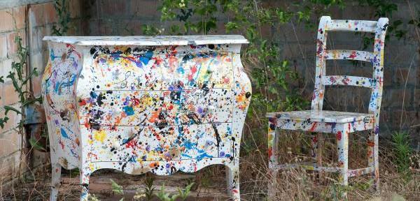 Pollock castagnetti c mobili decorati for Mobili decorati